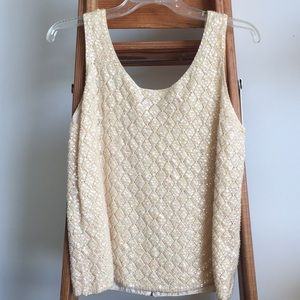 ✨Vintage✨ Wool Sequined Sleeveless Sweater Top